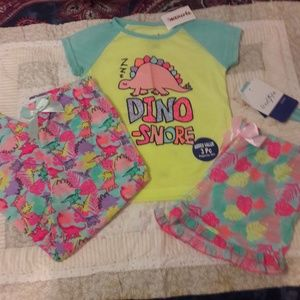 Other - NWT Girls 3 piece pajama set